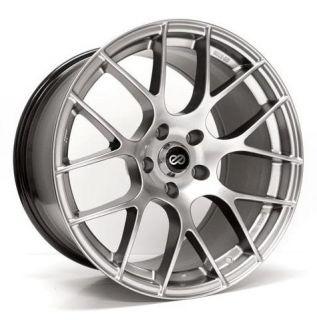 18 Enkei Raijin Silver Rims Wheels 18x9 5 15 5x114 3 evo8 EVO9 evox