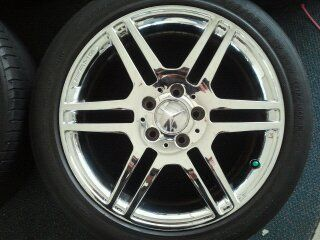 of 4 17 Mercedes Benz C350 C300 AMG Chrome Factory Wheels Rims