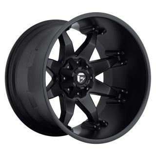 22x14 Octane Black 22 Fuel Deep Lip Series Matte Black Rims