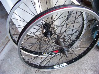 20 BMX Bike Wheels x Rims 1 Y 303 and 1 C 303 Wheelset 3 8 Axles