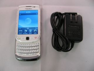 WHITE RIM BLACKBERRY TORCH 9800 AT T UNLOCKED GSM 3G WiFi Smartphone