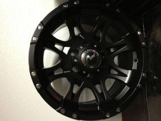 17 inch Raceline Raptor Black Wheels Toyota FJ Cruiser 4 Runner Tacoma