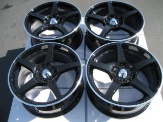 Black Effect Wheels Camry Altima Maxima TSX RSX WRX 5 Lug Rims