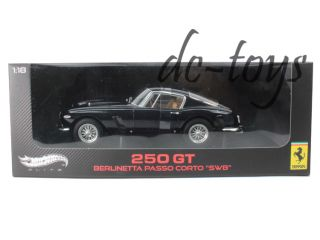 Hot Wheels Elite Ferrari 250 GT Berlinetta Corto SWB 1 18 Diecast Dark