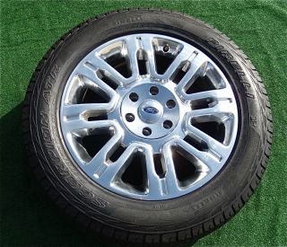 Ford F150 Platinum Polished 20 inch Wheels Tires Expedition