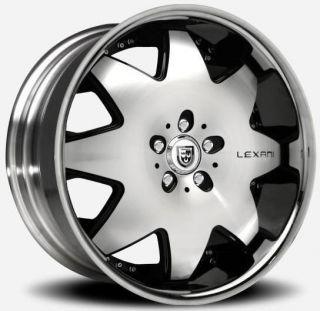 Lexani LX 2 Black SS Lip Wheel Rim 5x4 5 5x114 3 MDX RX350