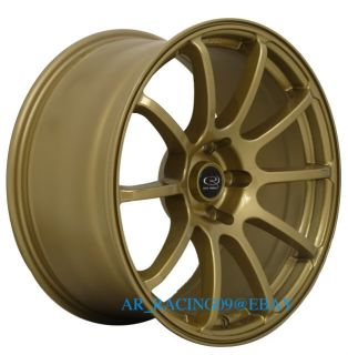 18 Rota Wheels 18x9 G Force Gold 370Z RX8 EVO 8 x STI