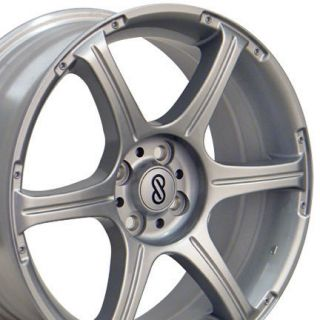 17 Rims Fit Toyota Scion XA Wheels Silver 17x7 Set