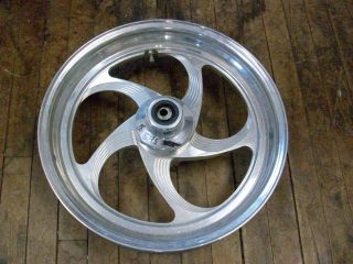 DAVIDSON CUSTOM CHOPPER FRONT WHEEL RIM 17 BILLET ALUMINUM POLISHED