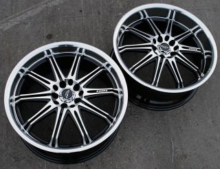 RVM 395 17 Black Rims Wheels CRV RAV4 Rogue FWD