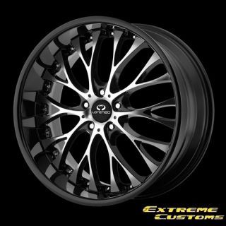 WL027 Gloss Black with Machined Face 5 Lug One Single Wheel Rim
