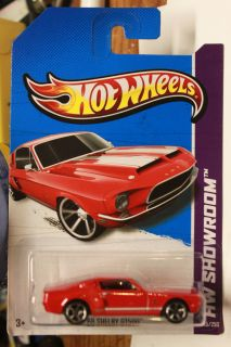 Hot Wheels 2013 HW Showroom 245 250 68 Shelby GT500 Red WW Card