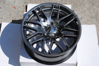 19 BMW M3 CSL Style Wheels Rims Hyper Black 323xi 325xi 328xi 330xi