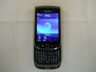 Black Rim Blackberry Torch 9800 Unlocked GSM at T Smartphone 100