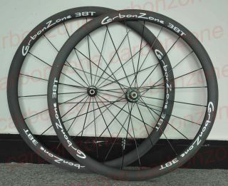 Tubular 38mm Matt Rims White Logo 700c Carbon Wheelset Bicycle Carbon