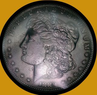 CC Morgan Silver Dollar Choice AU Slightly Rim Toned