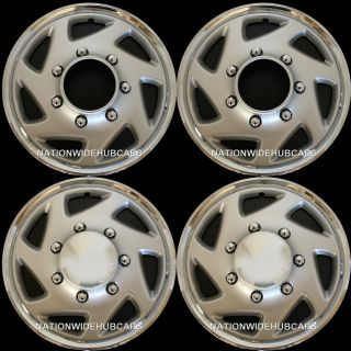 of 4 Truck Van 16 8 Lug Full Covers Rim Hub Caps Steel Wheel