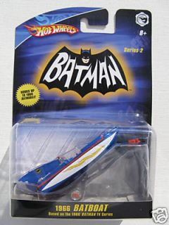 Hot Wheels 1966 TV Series Batboat 1 50 Batman Robin