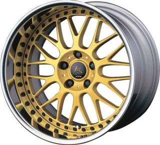 19 Work vs XX Gold Rims Wheels for Altima 350Z Genesis