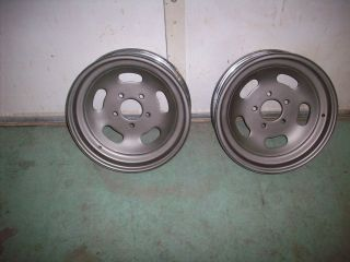 Vintage PR 60s Keystone Chrome Slot Wheels 15x4 Skinnies Hot Rod Rat
