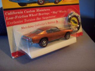 Hot Wheels Redline Custom Barracuda Orange H K 1968 Mint in Blister