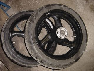 Buell Black Rims Wheels Mags w Tires 1996 2002 12 7