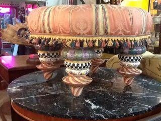 Mackenzie Childs Tuffet Large Ottoman Foot Stool Furniture