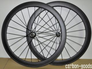Full Carbon Road Bike 50mm Tubular Wheels Racing Bike Wheelset