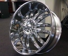 22 Starr 407 Triple Chrome Wheels Rims Tires Package 5x112 FWD