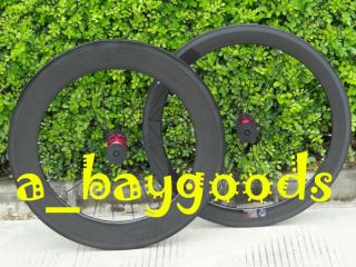Full Carbon 3K 700C Road Bike Bicycle Clincher wheelset 88mm 50mm Rim