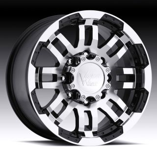 5x139 7 5X5 5 BLACK VISION WARRIOR WHEELS RIMS 5 LUG DODGE RAM 1500