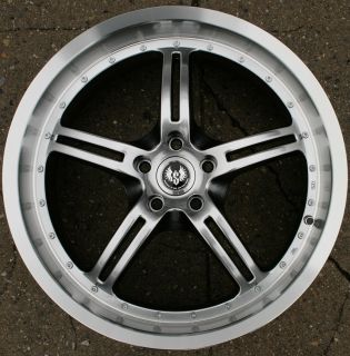 Stern Jock Face ST5 20 H Black Rims Wheels G35 Sedan 03 Up 20 x 8 5