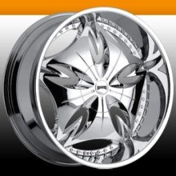 Esinem 6 Lug 6x5 5 Chrome 20 One Single Replacement Wheel Rim