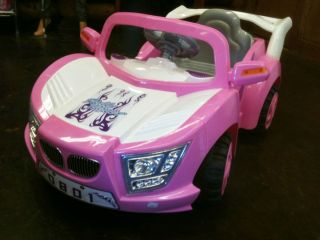 Pink Girls Kids Ride on 6 Volt Power Electric Wheels Race Car