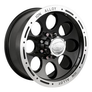 x8 ion Alloy Style 174 Black 5x4 5 w 5 Et 174 6865B Wheels Rims