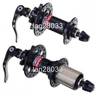 Novatec Mountain Bike Disc Hubs D711SB D712SB 408G Pair Blk Fit