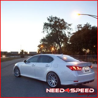 Lexus LS460 LS Rohana RC10 Concave Silver Staggered Wheels Rims