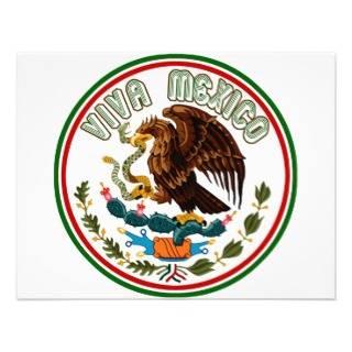 Mexico (Eagle Mexican Flag) Custom Invitation