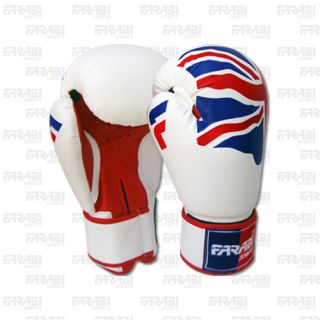 6oz Kids Boxing Gloves Junior with UK Flag MMA Synthetic Leather
