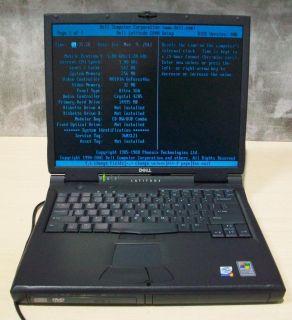 Dell Latitude C840 Laptop PC Pentium 4 M1 8GHz 256MB 80GB
