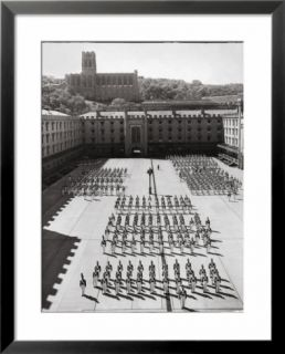 West Point Cadets Standing at Parade Rest in Courtyard of the West Point Military Academy Pre made Frame