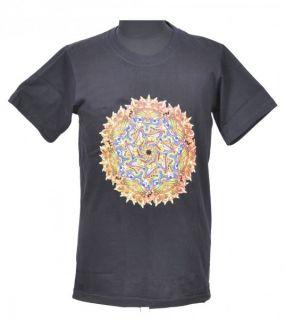 Psy T Shirt mit Maya Motiv Hippie Goa