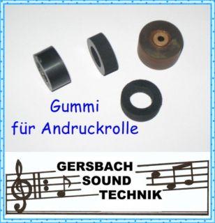 Gummi für Andruckrolle Pinch roller Telefunken M 291