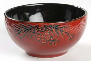 North Pole Trading Co. Pine Retreat Red Soup/Cereal Bowl, Fine China Dinnerware
