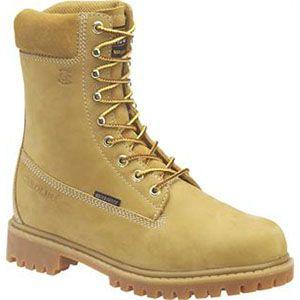Carolina Mens 8 Inch Insulated Waterproof Work Boot Wheat Boots   CA9026
