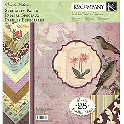K and Company Flora And Fauna 12x12 inch Double sided Specialty Paper Pad