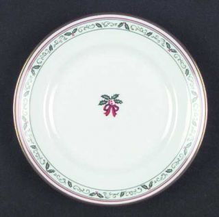 Royal Worcester Village Christmas Bread & Butter Plate, Fine China Dinnerware