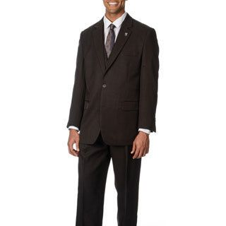 Stacy Adams Mens Brown 3 piece Vested Suit