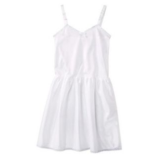 Girls Nylon Full Slip   White 5