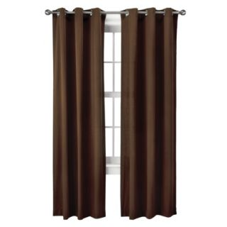 Threshold Grayson Grommet Window Panel Pair   Brown (42x95)